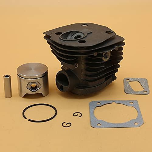 Juego de juntas de pistón de cilindro de 44 mm para Husqvarna 350 340 345 346XP 351 353 Jardín Motosierra Motor Reconstrucción Piezas Accesorios (Tamaño: HUS350 44 mm)