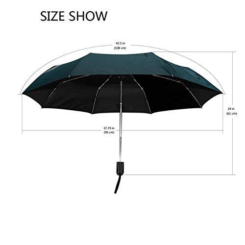 Mens Automatic Black Umbrella Death Angel 3 Folding Travel Umbrella Creative Teenagers' Evil Umbrella Boys Paraguas Hombre - (Color: Blue)