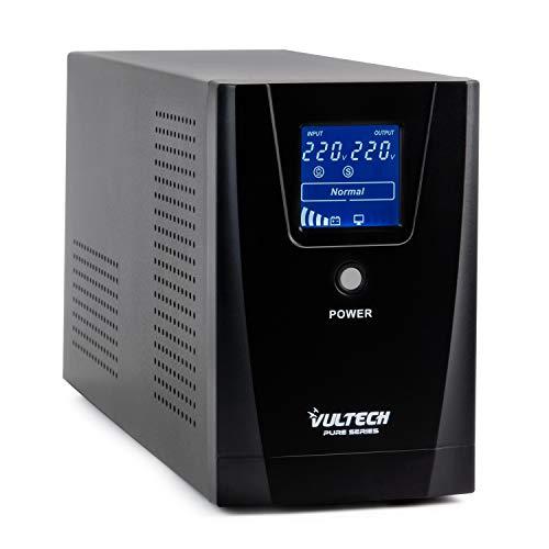 Vultech ups 1500VA Pure Line Interactive con Onda SINUSOIDALE Pura E LCD