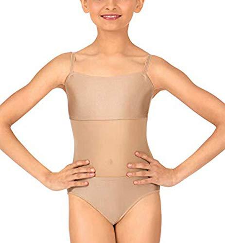 Yeahdor Maillot de Danza Ballet para Niña Chica Clásico Leotardo Gimnacia Tirantes sin Manga Mono de Malla Transparente Disfraz Bailarina Nude 8 Años;