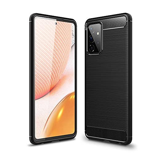 CoverKingz Funda de silicona para Samsung Galaxy A72 5G, color negro