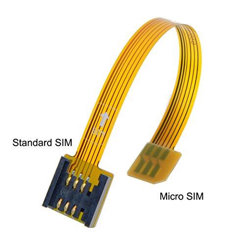 CY - Cavo FPC di prolunga da Micro SIM 3G 4G maschio a UIM SIM standard femmina, cavo flessibile e piatto, lunghezza 10 cm