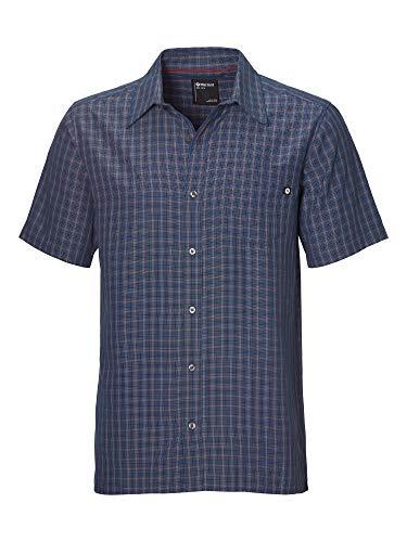 Marmot Eldridge SS T-Shirt Manche Courte, Chemise de randonnée, avec Protection UV, Respirant Homme Arctic Navy FR: L (Taille Fabricant: L)