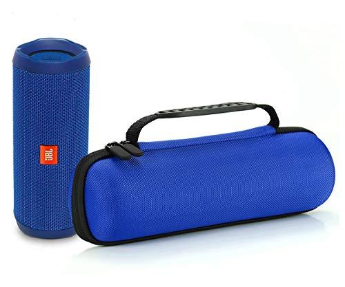 Harte Reise Lagerung Tragetasche für JBL Flip 4 / JBL Flip 3 Wireless Bluetooth Portable Lautsprecher. Passend für USB-Kabel und Wand-Ladegerät-Blau