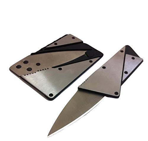 3 Pack the 3rd Generation Credit Card Knife, Stainless Steel Cover Folding Safety Knife Silver, Outdoor Pocket Wallet Foldable/portable Swisscard Lite Pocket Tool