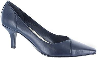 Easy Street Womens Chiffon Dress Heels & Pumps Shoes, Navy, 8