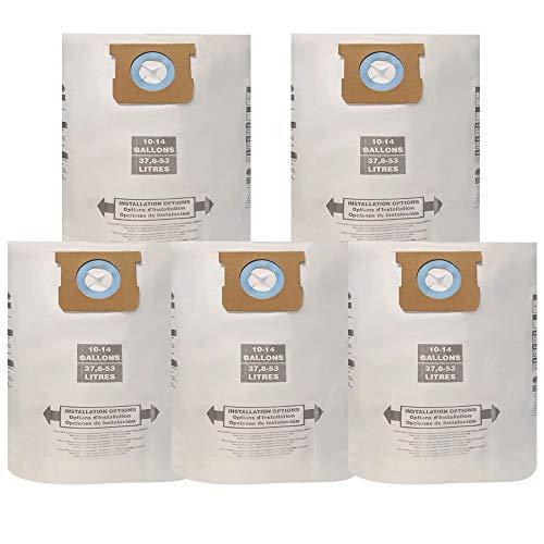 GIB cleaningtool VF2500 Bolsas de aspiradora húmedas/secas tipo F, 10-14 galones de filtro de polvo...