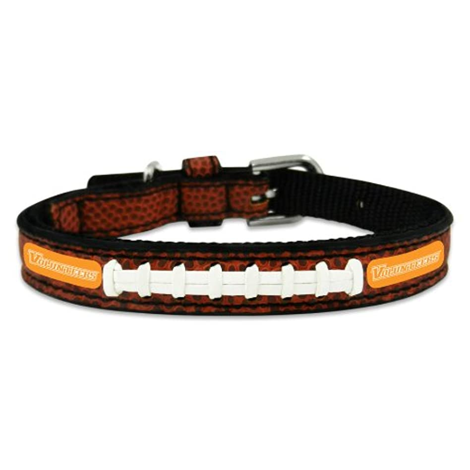 我慢する補充ケーブルカーTennessee Volunteers Classic Leather Toy Football Collar