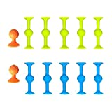 ORTUH 22pcs Pop Darts Silicona Sucker Juguetes Familia Juegos Interactivos Juego Interior Objetivo Accesorios 3 Color Mix
