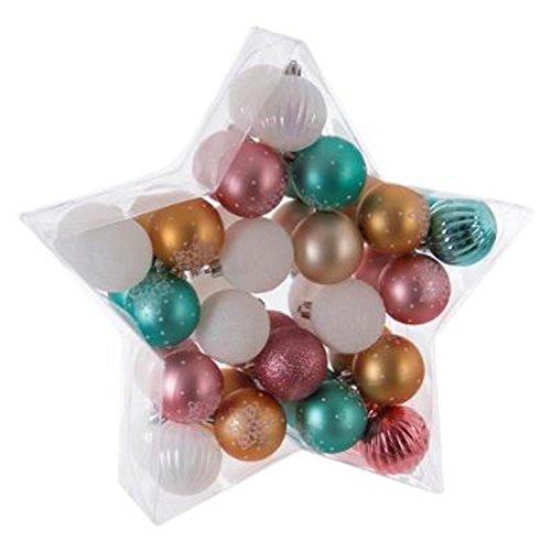 Kit de 40 Boule de Noel Multicolore - Décoration Sapin Fête - 855