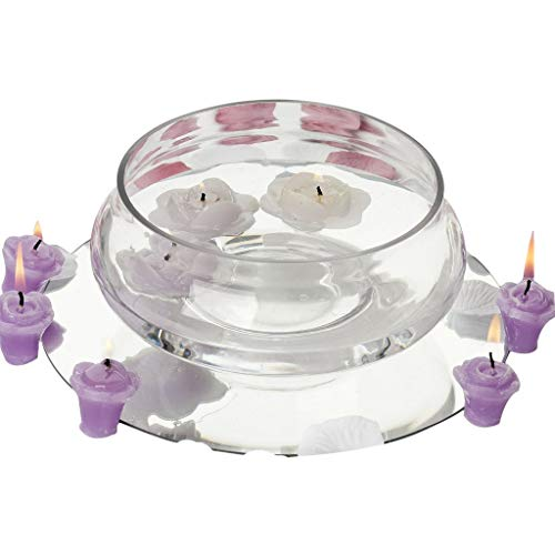 """BalsaCircle 6 pcs 7"""" Wide Clear Floating Candle Glass Vase Bowls for Wedding Party Birthday Centerpieces Home Decorations Supplies"""