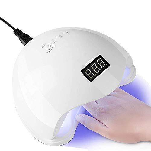 HWXDH Photothérapie Intelligente lumière 48 Watts Haute 10 Secondes séchage Rapide LED Vernis à Ongles séchoir Lampe de séchage Cadeau pour Gel manucure EU Plug