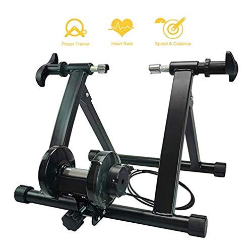 Trainer per Bicicletta per Allenamento in Casa, Rullo Turbo Trainer Magnetico per Bicicletta con Regolatore velocità, Trainer Pieghevole