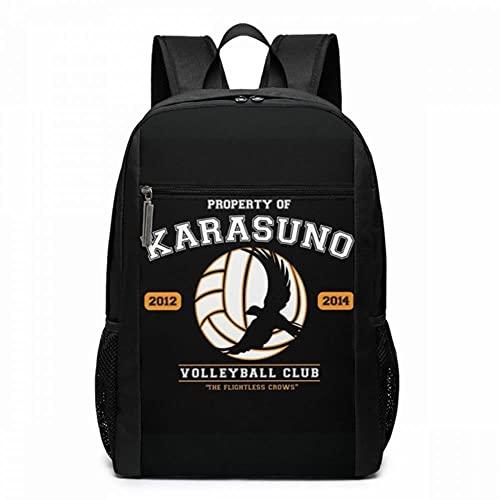 ULPUXMM Zaino Anime Team Karasuno Zaini Trending Bag Uomo - Donna Stampa Zaino multifunzionale Borse per studenti