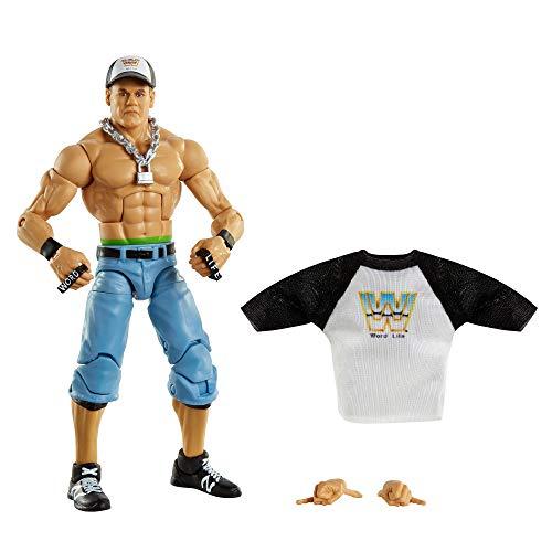 WWE Élite Figura John Cena, muñeco articulado de juguete con accesorios (Mattel GVC03)