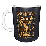 Wanaiober I Solemnly Swear That I Am Up to No Good Mug Ceramic with Large C-Handle Coffee Mug Cup