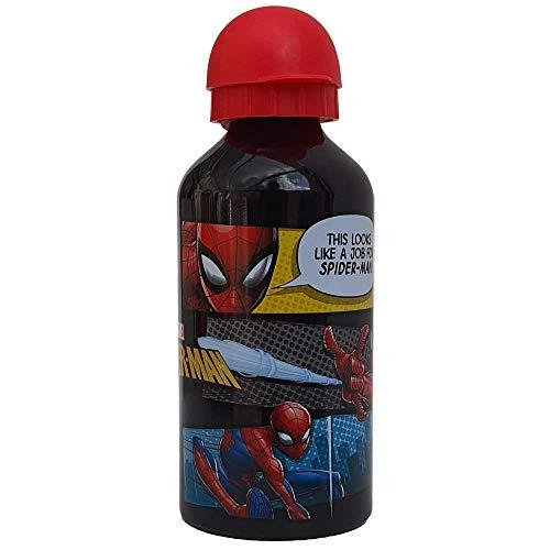 CARTOON GROUP Cantimplora de aluminio Spiderman Marvel Hombre Spiderman con boquilla y tapa 500 ml – 557-19230