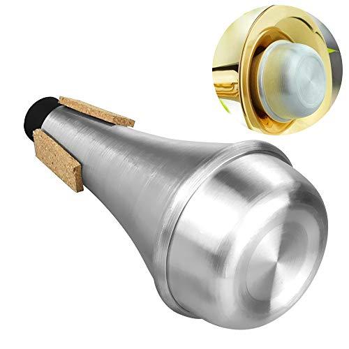 TANCUDER Trompete Dämpfer Trompete Mute Aluminiumlegierung Trompetenschalldämpfer Trompete Straight Dämpfer Silber Trompete Stummschaltung Trompete Übungsdämpfer Praxis Schalldämpfer für Trompeten