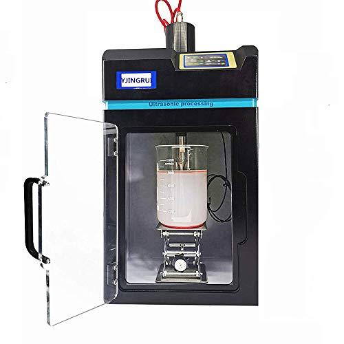 YJINGRUI Homogeneizador ultrasónico Sonicator Disruptor de células ultrasónico integrado para la interrupción y extracción de células (800W 100ml ~ 1200ml)
