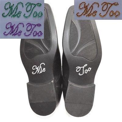 Yo también ' despejen zapato transferencias de cristal. Transferencias de boda, traje...