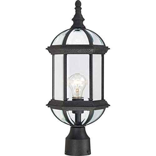NUVO 60/4976 One Light Outdoor Post Mount, 19.25 x 8-Inches, Black
