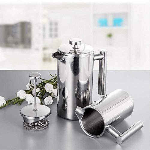 1 st Koffie Thee gieten Ketel Geïsoleerde Roestvrij Staal Franse Persen Koffiemachine Beste Dubbele Muur Cafetiere Pot