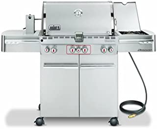 Weber 7270001 Summit S-470 4-Burner Natural Gas Grill, Stainless Steel
