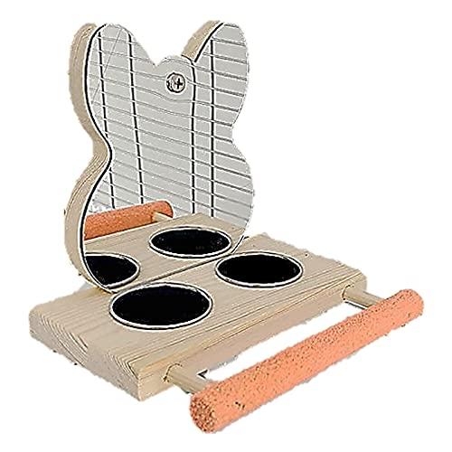 ST TS ステンレス 餌入れ 鏡 鳥スタンド 止まり木 餌台 鳥かご 餌 エサ 台 インコ オウム バードトイ 玩具