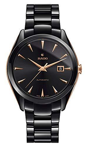 Rado HyperChrome automatisch herenhorloge van zwart keramiek en roze Details R32252162.