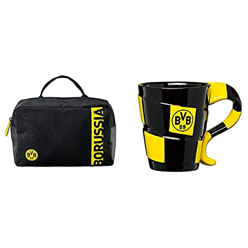 Borussia Dortmund BVB-Kulturbeutel & BVB-Tasse mit Schal-Design