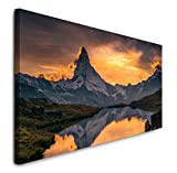 Paul Sinus Art GmbH Sonnenuntergang über dem Matterhorn