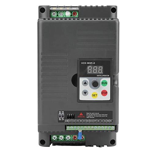 Unidad de velocidad variable, 220 V, unidad de frecuencia variable monofásica, controlador de velocidad VFD para motor de CA trifásico de 5,5 kW, herramienta eléctrica, unidad de motor