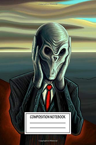 Composition Notebook: Tv Shows Of The Silence An Alien Creature From The Sci Popculture Wide Ruled Note Book, Diary, Planner, Journal for Writing