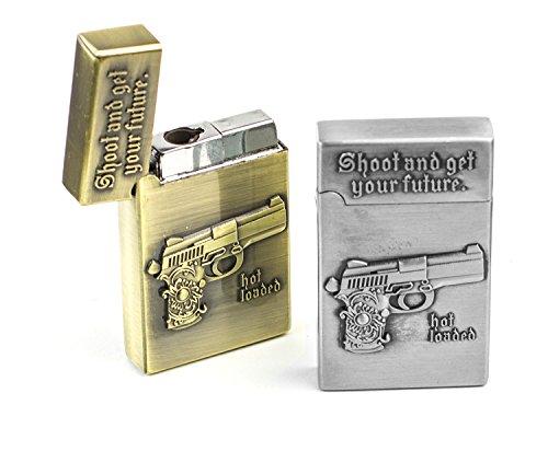 Shoot Sturmfeuerzeug mit Pistole Gravur