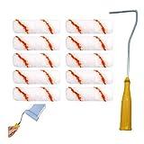 kit rodillo pintura pared Kit Rodillos Pintura juego de rodillo de pintura mango de rodillo de pintura Mini rodillo Utilizado para pintar paredes de dormitorio (11 piezas)