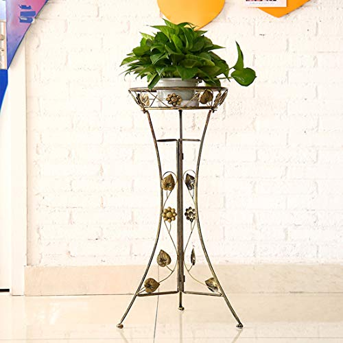 MAJOZ0 Blumenständer Metall, Blumentreppe Pflanzentreppe Pflanzregal Blumenregal für Innen Outdoor Balkon Wohzimmer Garten Deko,33.5 x 26 x 78cm