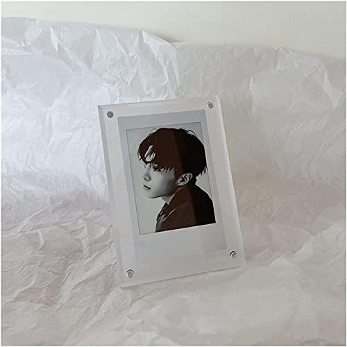 YQDSY フォトフレームアクリルフォトフレーム透明厚いフレームレス磁気デスクトップディスプレイバレンタインデーの贈り物 絵画フレームセットヌル/ミルキーWhite / 74 / 104mm
