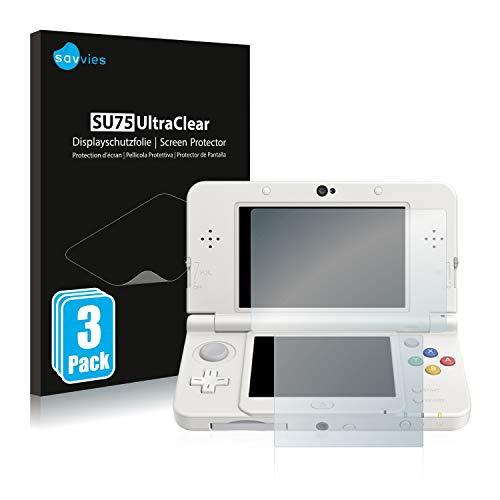 Savvies 6X Schutzfolie kompatibel mit Nintendo New 3DS Displayschutz-Folie Ultra-transparent