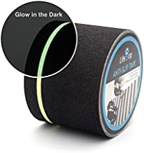 LifeGrip Anti Slip Traction Tape with Glow in Dark Green Stripe, 4 Inch x 30 Feet - Best Grip, Friction, Abrasive Adhesive for Stairs, Tread Step, Indoor and Outdoor, Black (4 inch X 30 feet)