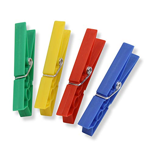 Honey-Can-Do Colored Plastic Clothespins 100-Pack