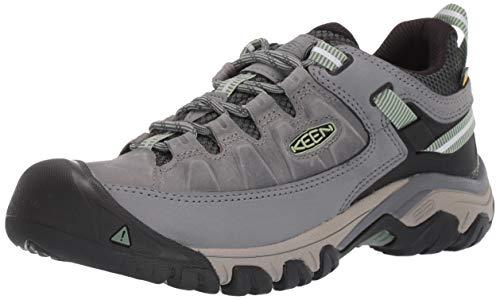 KEEN Women's Targhee 3 Low Height Waterproof Hiking Shoe, Bleacher/Duck Green, 10.5 US