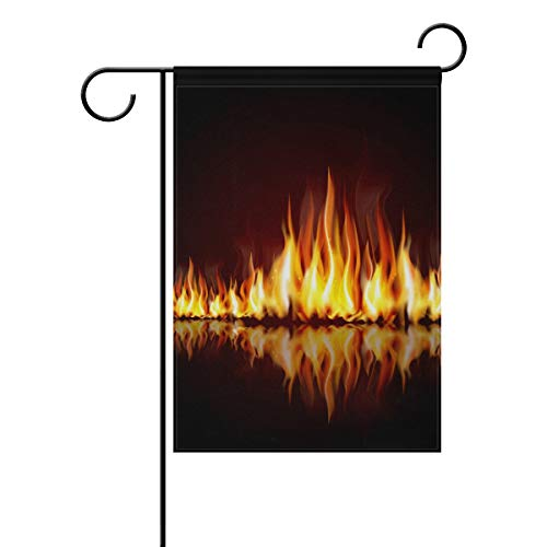 FANTAZIO Gartenflagge brennende Flamme doppelseitige Fahne, Polyester, 1, 12x18(in)