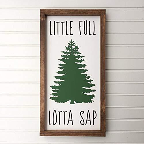 Little Full Lotta Sap Christmas Wood Sign, Christmas Vacation Quote Saying, Christmas Tree Wall Hanging, Christmas Decor, Holiday Decoration