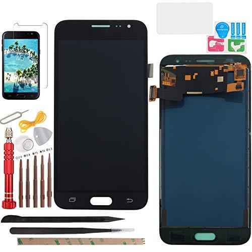 YHX-OU 5.0 para Samsung Galaxy J3 2016 J320 J320FN J320M J320A J320H J320F J320P J320A Pantalla LCD táctil de repuesto con herramientas + protector de pantalla (negro)
