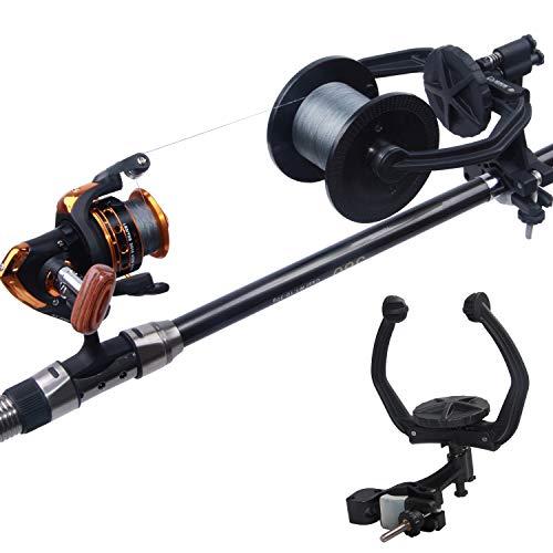 AGOOL Fishing Line Spooler - Portable Fishing Line Winder Reel Spooler Spooling Station System Baitcaster Reel Line Spooler Fishing Tool