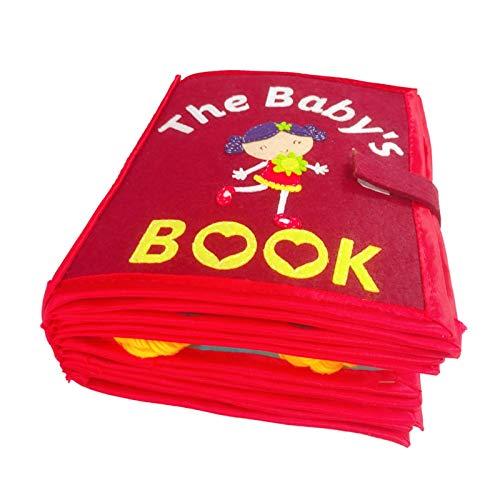 fllyingu Libros De Tela para Bebés, Mis Primeros Libros De Ropa Suave No Tóxica Juguetes Educativos Tempranos Regalos Actividad Libro De Tela Arrugada para Niños Pequeños, Bebés Y Niños