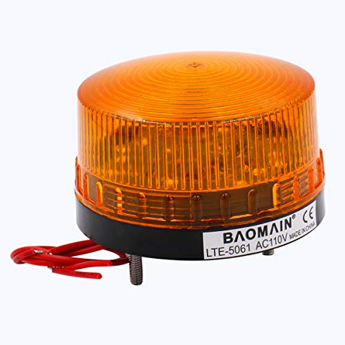 Baomain Industrial Signal Round Yellow Warning Light Strobe Warning lamp LTE-5061 AC 110V