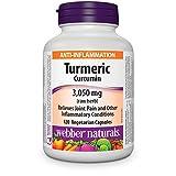 Webber Naturals Turmeric Curcumin 3,050 mg, 120 Vegetarian Capsules (Packaging May Vary)