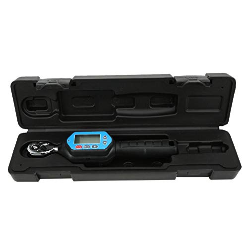 Llave electrónica ajustable de trinquete Pantalla LCD Manual 1/4 pulg. Para oficina para interior y exterior para industria