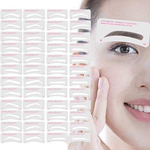 Eyebrow Stencil,Eyebrow Shaper Kit 24 Styles 3 Minutes Makeup Tools For Eyebrows Extremely Elaborate Reusable Eyebrow Template Eyebrow Gel Eyebrow Tint Dye Stencils for A Range Of Face Shapes